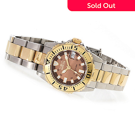 621-807 - Invicta Women's Pro Diver Abyss Quartz Date Stainless Steel Bracelet Watch