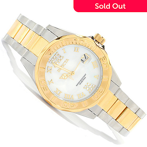 621-810 - Invicta Women's Pro Diver Mini Quartz Stainless Steel Bracelet Watch
