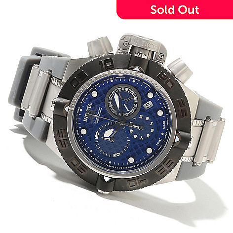621-824 - Invicta Men's Subaqua Noma IV Swiss Made Quartz Chronograph Polyurethane Strap Watch
