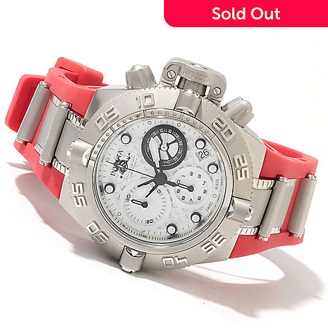 621-825 - Invicta Mid-Size Subaqua Noma IV Swiss Made Quartz Chronograph Polyurethane Strap Watch