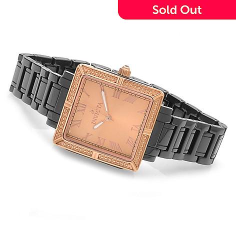 621-828 - Invicta Women's Classique Quartz Square Case Ceramic Bracelet Watch