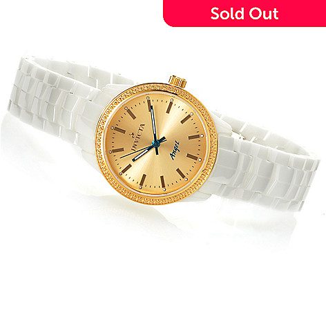 621-831 - Invicta Ceramics Women's Angel Quartz Bracelet Watch