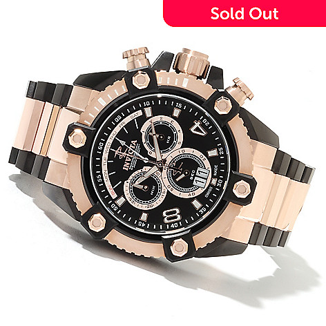 622-022 - Invicta Reserve Men's Grand Arsenal Swiss Made Quartz Chronograph Stainless Steel Bracelet Watch