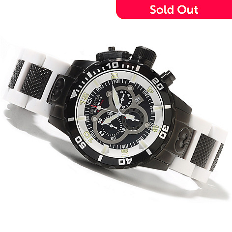 622-050 - Invicta Men's Corduba Ibiza Diver Quartz Chronograph Stainless Steel & Polyurethane Bracelet Watch