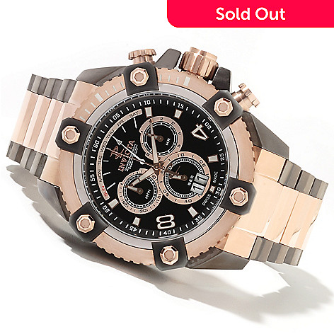 622-055 - Invicta Reserve 63mm Grand Octane Swiss Made Chronograph Bracelet Watch w/ One-Slot Dive Case