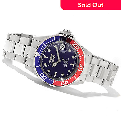 622-056 - Invicta 40mm Pro Diver Automatic Stainless Steel Bracelet Watch