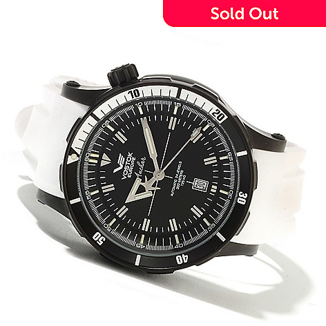 622-057 - Vostok-Europe Men's Anchar Limited Edition Automatic Rubber Strap Watch