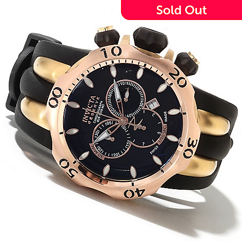 622-069 - Invicta Reserve Men's Venom Fang Swiss Made Quartz Chronograph Polyurethane Strap Watch
