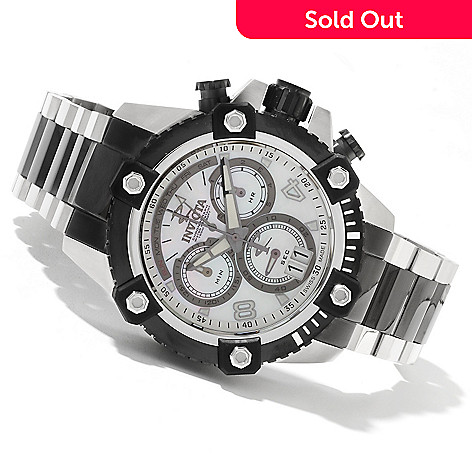 622-071 - Invicta Reserve 48mm Swiss Made Quartz Chronograph Mother-of Pearl Dial Bracelet Watch