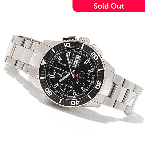 622-073 - Stührling Prestige Men's Regatta Swiss Made Valjoux 7750 Automatic Bracelet Watch