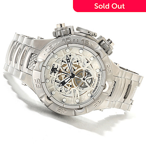622-075 - Invicta 50mm Subaqua Noma V COSC Swiss Made Quartz Chronograph Stainless Steel Bracelet Watch