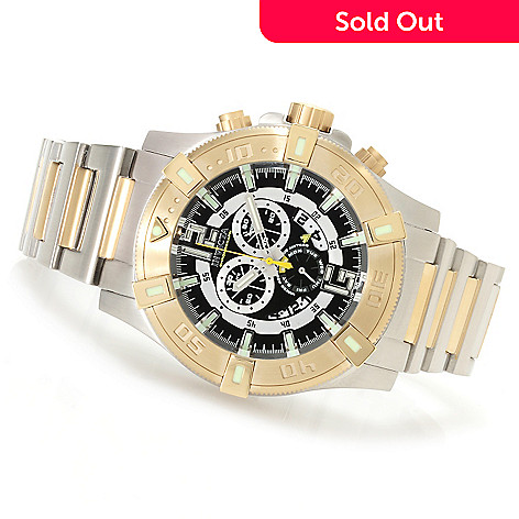 622-078 - Invicta 52mm Luminary Tritium Tubes Swiss Chronograph Stainless Steel Bracelet Watch