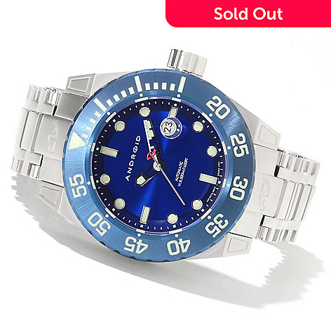 622-082 - Android 50mm Silverjet 3G Automatic Stainless Steel Bracelet Watch