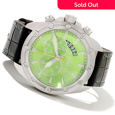 622-096 - Android Men's Concept T2 Quartz Chronograph Leather Strap Watch w/ Three-Slot Case