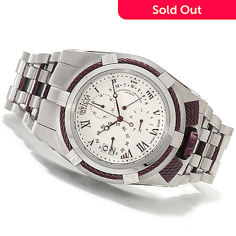 622-154 - Invicta Reserve 52mm Bolt Zeus Elegant Swiss Made Quartz Chronograph Bracelet Watch