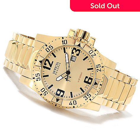 622-160 - Invicta Reserve Men's Excursion Swiss Made Quartz Stainless Steel Bracelet Watch