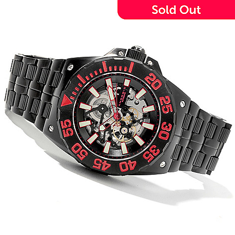 622-167 - Android Men's 48mm Corsair Automatic Limited Edition Bracelet Watch w/ 3-Slot Travel Case