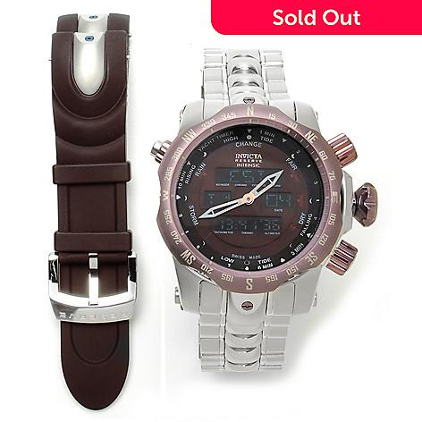 622-170 - Invicta Reserve 52mm Venom Swiss Made Ana/Digi Bracelet Watch w/ Extra Polyurethane Strap & Tool