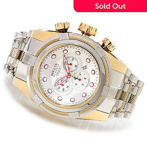 622-173 - Invicta Reserve 52mm Bolt Zeus Swiss Made Quartz Chronograph Bracelet Watch