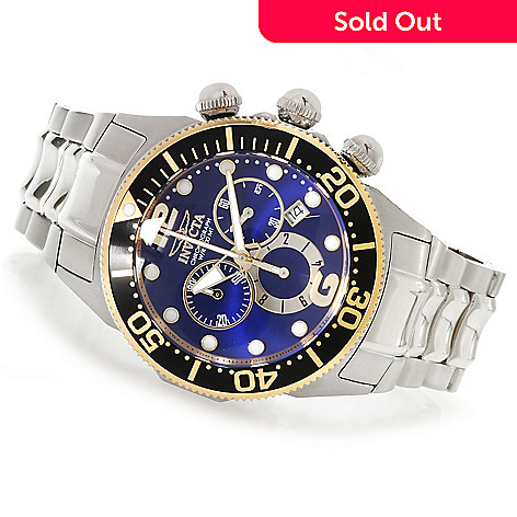622-178 - Invicta Men's Lupah Diver Quartz Chronograph Stainless Steel Bracelet Watch