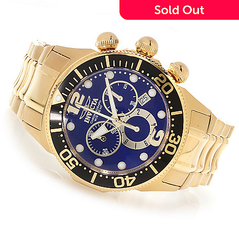 622-180 - Invicta 47mm Lupah Diver Quartz Chronograph Stainless Steel Bracelet Watch
