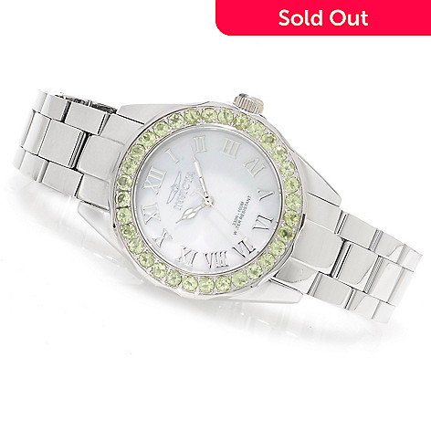 622-183 - Invicta Women's Angel Gems Quartz Limited Edition Mother-of-Pearl Bracelet Watch