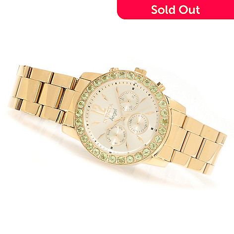 622-185 - Invicta Women's Angel Gemstone Limited Edition Quartz Multifunction Stainless Steel Bracelet Watch