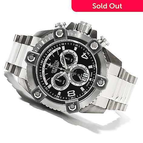 622-189 - Invicta Reserve 63mm Grand Octane Swiss Made Quartz Chronograph Stainless Steel Bracelet Watch