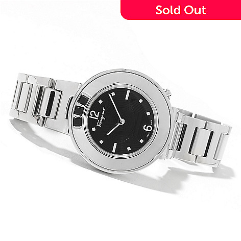 622-193 - Ferragamo Women's Gancino Sparkling Swiss Made Quartz Stainless Steel Bracelet Watch