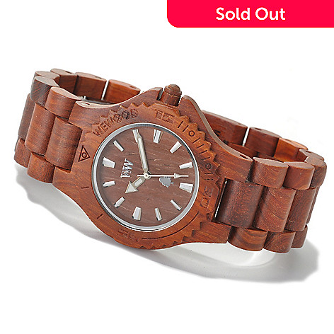 622-201 - WeWOOD 42mm ''Date'' Quartz Wooden Bracelet Watch