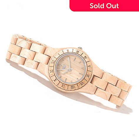 622-205 - WeWOOD Women's Moon Quartz Wooden Bracelet Watch