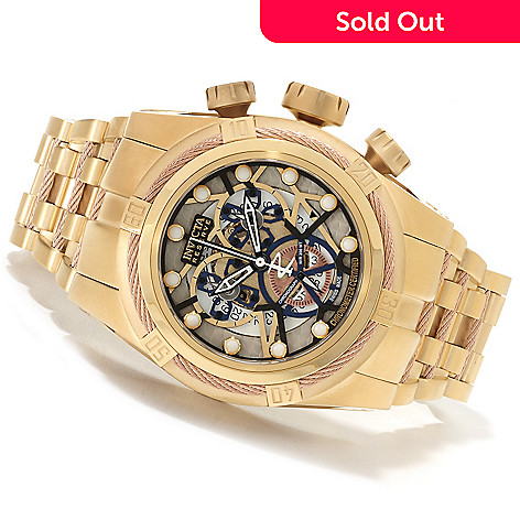 622-208 - Invicta Reserve 52mm Bolt Zeus Swiss Made COSC Quartz Chronograph Bracelet Watch