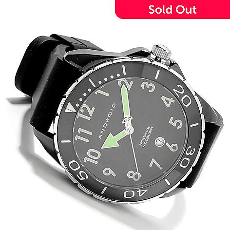 622-214 - Android Men's Exotic 2 Quartz Ceramic Rubber Strap Watch w/ Six-Slot Case