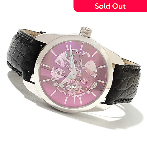 622-215 - Android Men's Impetus Automatic Skeletonized Alligator Strap Watch