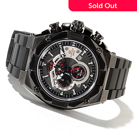 622-218 - Casio Men's Edifice Black Label Quartz Chronograph Strap Watch