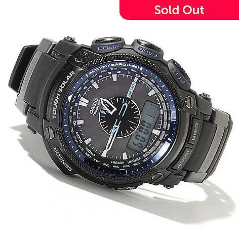 622-219 - Casio Men's Pro Trek Quartz Chronograph Digital Solar Analog Strap Watch