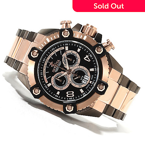 622-221 - Invicta Reserve 56mm Swiss Made Quartz Chronograph Stainless Steel Bracelet Watch