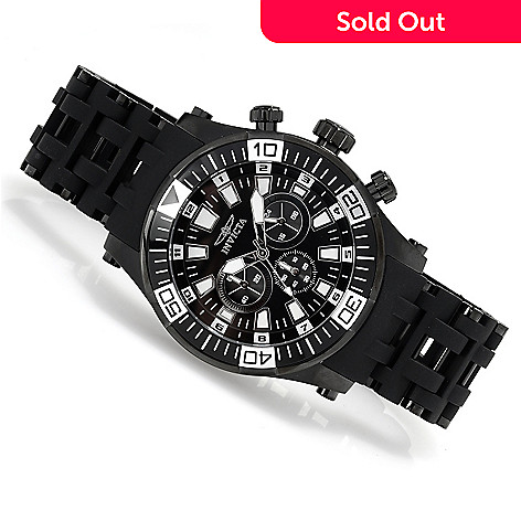 622-254 - Invicta Men's Sea Spider Quartz Chronograph Stainless Steel Polyurethane Bracelet Watch