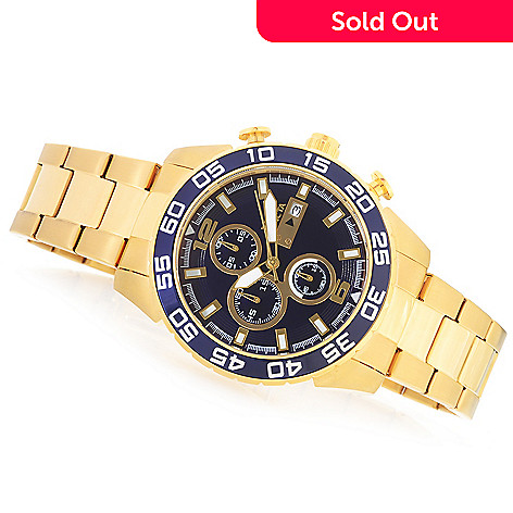 622-292 - Invicta Men's Pro Diver Specialty Quartz Chronograph Bracelet Watch w/Three-Slot Dive Case