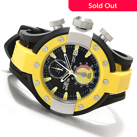 622-299 - Invicta 52mm S1 Rally Quartz Chronograph Stainless Steel Polyurethane Strap Watch