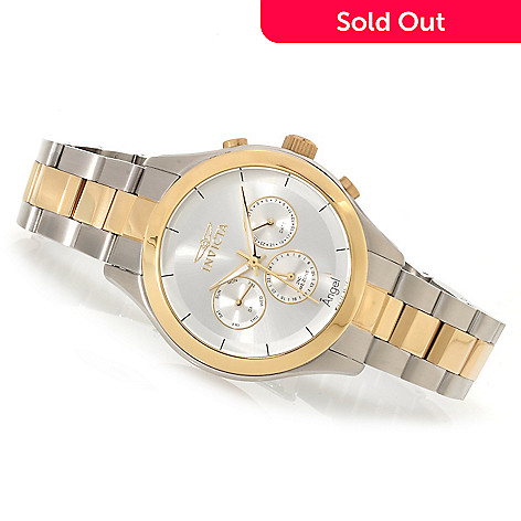 622-309 - Invicta Women's Angel Quartz Multifunction Bracelet Watch w/ Travel Box