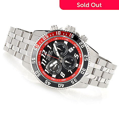 622-315 - Invicta Men's Pro Diver Swiss Chronograph Stainless Steel Bracelet Watch