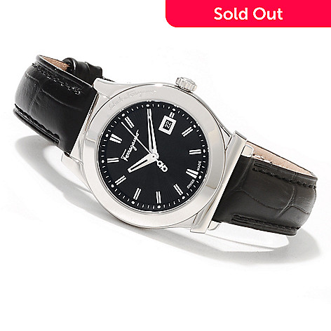 622-321 - Ferragamo Women's 1898 Swiss Made Quartz Leather Strap Watch