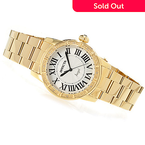 622-326 - Invicta Women's Angel Royale Diamond Accented Bracelet Watch w/ Travel Box