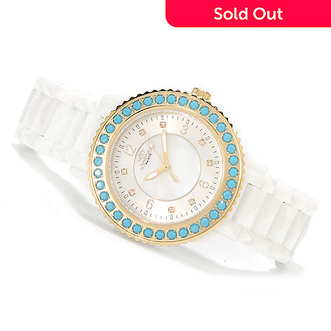 622-328 - Oniss Women's Bellissima Ceramic Bracelet Watch Made w/ Swarovski® Elements
