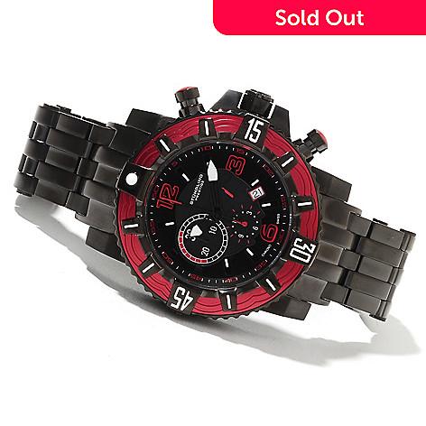 622-363 - Stührling Prestige Men's Aquadiver Marine Limited Edition Swiss Made Quartz Chronograph Watch