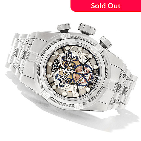 622-365 - Invicta Reserve 52mm Bolt Zeus Swiss Made COSC Quartz Chronograph Bracelet Watch