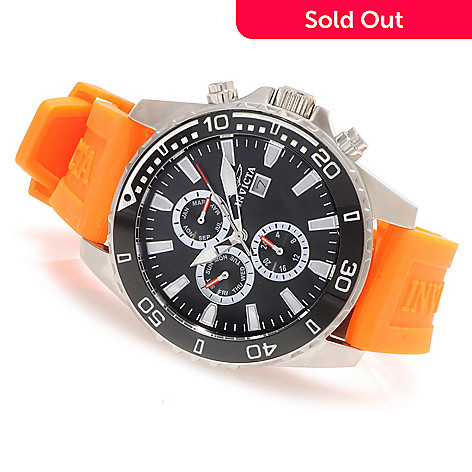 622-366 - Invicta 45mm Specialty Diver Stainless Steel Strap Watch w/ 3-Slot Diver Case
