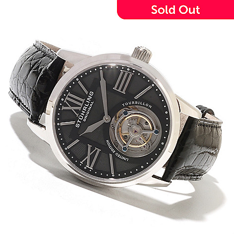622-380 - Stührling Original Men's Grand Imperium Limited Edition Mechanical Tourbillon Strap Watch