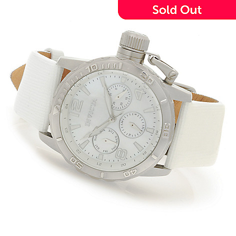 622-399 - Invicta Women's Corduba Quartz Multi Function Mother-of-Pearl Leather Strap Watch